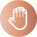cover, fingers, gesture, hand icon