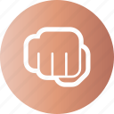 fight, fist, opposition, resist icon