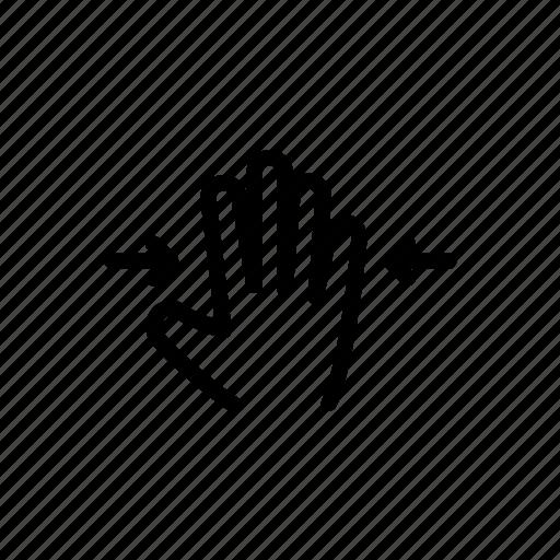 finger, gesture, hand, pinch, swipe, touch icon