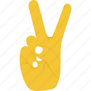 gesticulate hand, peace sign, success, v gesture, victory icon