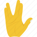 communication, greeting emoji, hand gestures, live long, prosperity wishing icon
