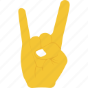 hand gesture, hard in rock, horns sign, nonverbal communication, rock and roll, rocks gesturing icon