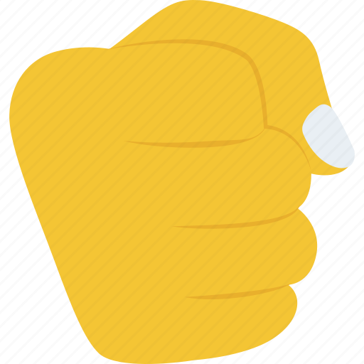 clenched fist, determination, hand gesture, punch, strength icon