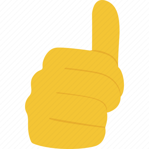 encouragement, hand gesture, like, satisfied, thumb up icon
