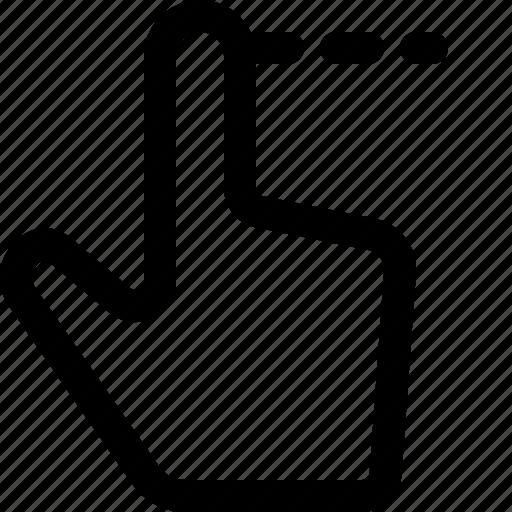 arrow, finger, left, single, swipe, swipe left icon