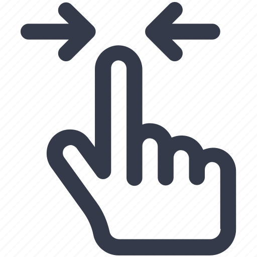 arrow, arrows, click, creative, directions, double, finger, fingers, gesture, grid, hand, interaction, left, line, press, right, select, shape, tap, touch, touch-gestures, work icon icon