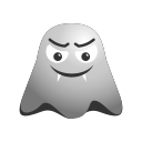 angry, devil, emoji, emoticon, ghost, grinning, smiley icon