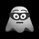 bandit, burglar, emoji, emoticon, face, ghost, smiley icon