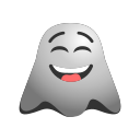 emoji, emoticon, ghost, happy, laughing, smiley icon