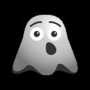 emoji, emoticon, face, ghost, smiley, tired, yawn icon