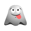 emoji, emoticon, ghost, happy, naughty, smiley icon