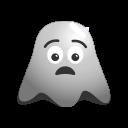 emoji, emoticon, ghost, injurd, pain, sad, smiley icon