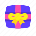 birthday, box, gift, present, ribbon icon