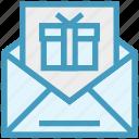 birthday gift, christmas, envelope, gift, gift card, letter, present icon
