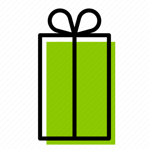 birthday, box, christmas, gift, green, present, surprise icon
