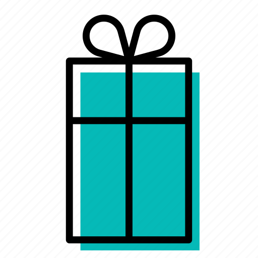 birthday, blue, box, christmas, gift, present, surprise icon