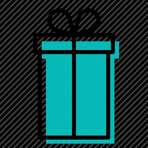 birthday, blue, box, christmas, gift, present, surprise icon