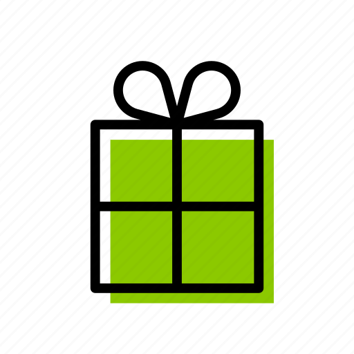birthday, box, christmas, gift, green, present, surprise icon