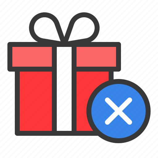 box, christmas, gift, package, present, remove icon
