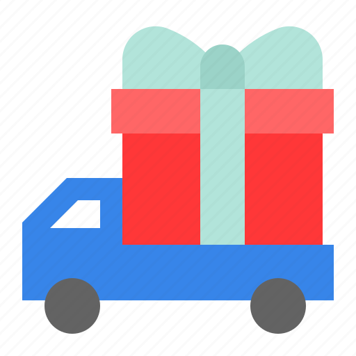 box, delivery, gift, present, transport, vehicle icon
