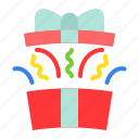 box, gift, package, surprise, christmas, present, celebration icon