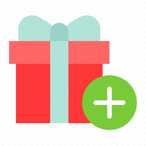 add, box, christmas, gift, package, present icon