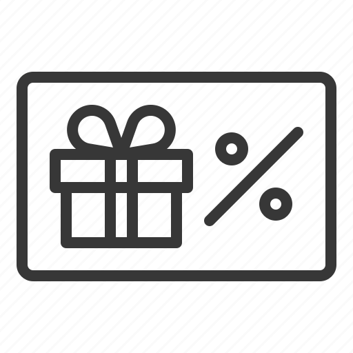 box, card, coupon, discount, gift, present, voucher icon