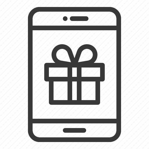 Box, gift, online, present, shopping, smartphone icon - Download on Iconfinder