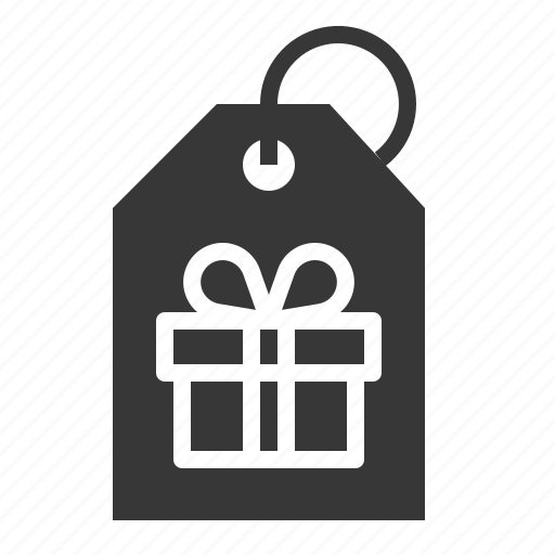 box, christmas, gift, present, tag icon