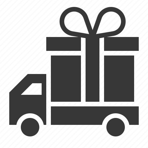 box, christmas, delivery, gift, present, transport, truck icon