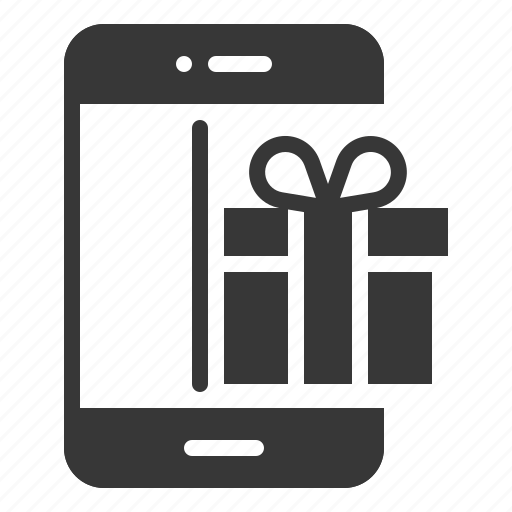 box, delivery, gift, present, shipping, shopping, smartphone icon