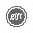 gift, label icon