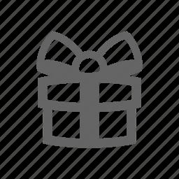 gift, gift box, ribbon icon