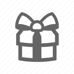 gift, gift box, ribbon icon