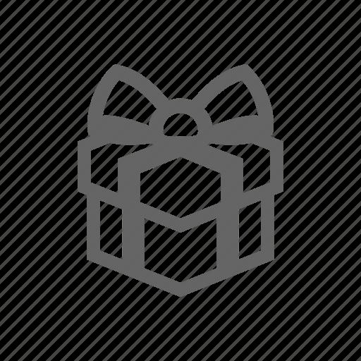 box, gift, ribbon icon