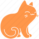 cat, cute, feline, ginger, meow, pet, purr icon