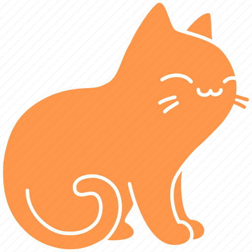 cat, cute, feline, ginger, meow, pet, purr icon