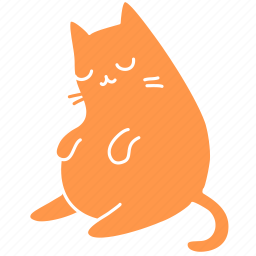 cat, cute, feline, ginger, meow, pet, snooze icon