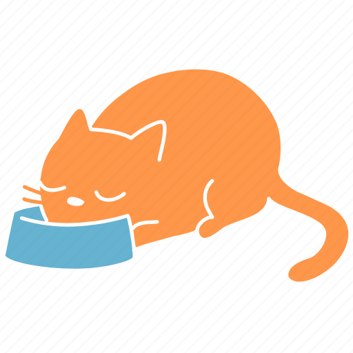 cat, feline, food, ginger, meal, meow, pet icon