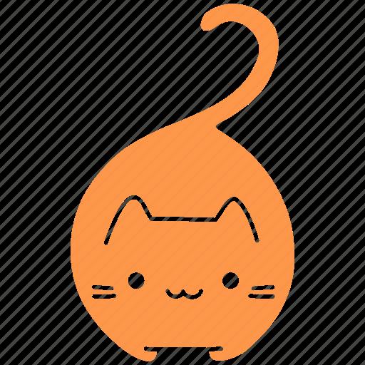 cat, cute, feline, ginger, meow, pet, smile icon
