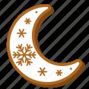 gingerbread, christmas, sweets, cookie, snowflake, moon, biscuit