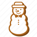 winter, biscuit, christmas, sweets, cookie, snowman, gingerbread