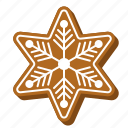 gingerbread, christmas, star, sweets, cookie, snowflake, biscuit