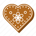 biscuit, christmas, sweets, cookie, heart, gingerbread