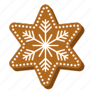 biscuit, christmas, cookie, gingerbread, snowflake, star icon