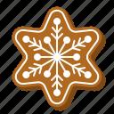 biscuit, christmas, cookie, gingerbread, snowflake, star
