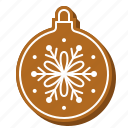 ball, bauble, biscuit, christmas, cookie, gingerbread icon