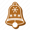 bell, biscuit, christmas, cookie, gingerbread, jingle icon