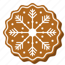 biscuit, christmas, shape, cookie, snowflake, gingerbread