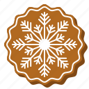 biscuit, cookie, decoration, gingerbread, snowflake, xmas icon
